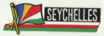 Seychelles Embroidered Flag Patch, style 01.